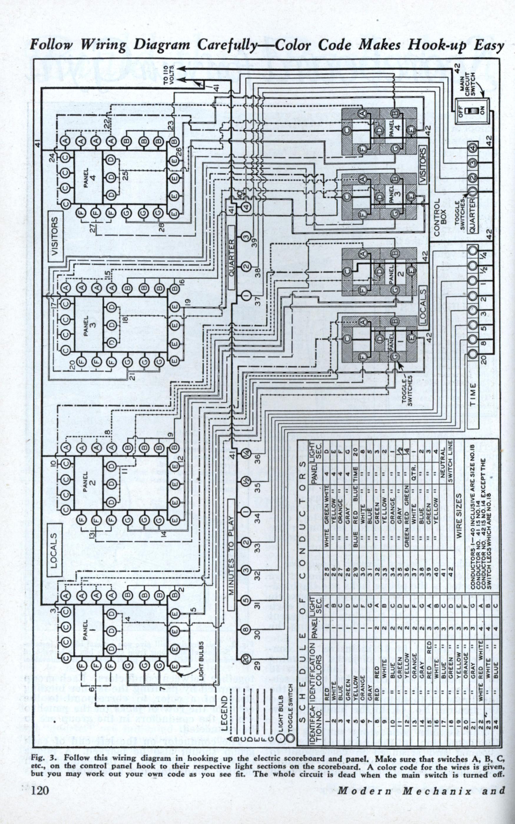 scoreboard circuit diagram di 2020  pinterest
