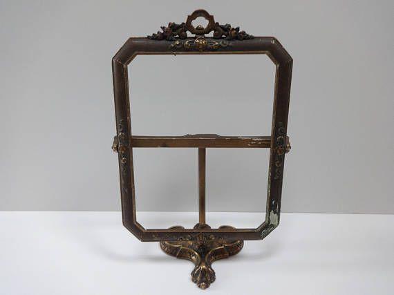 Wooden Swivel Frame, French Country Decor, Victorian Decor, Swivel Frame, Office  Decor, Wooden Frame, Frame On Stand, Desktop Decor, Frame