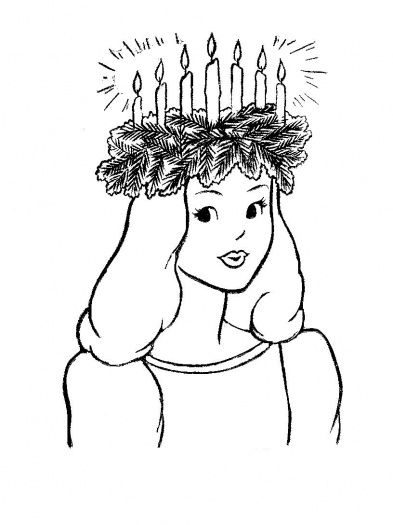 saint lucys day coloring pages lucia