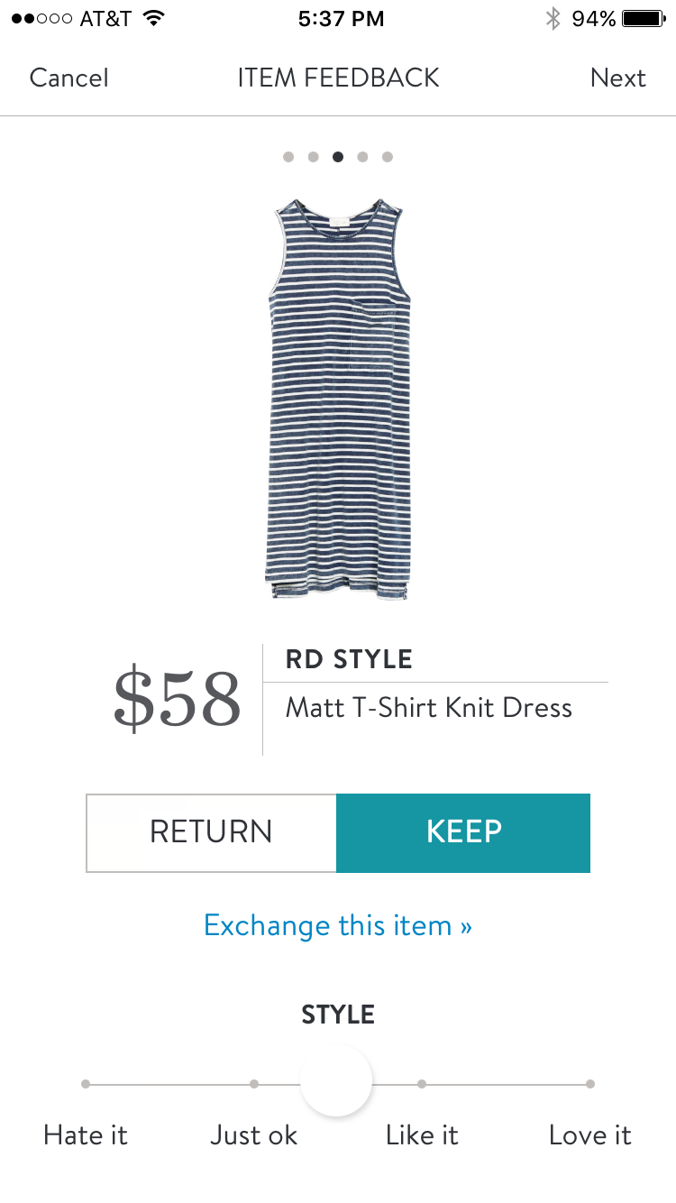 RD Style Matt T Shirt Dress #stitchfix. I love Stitch Fix! A personalized styling service and it's amazing!! Simply fill out a style profile with sizing and preferences. Then your very own stylist selects 5 pieces to send to you to try out at home. Keep what you love and return what you don't. Only a $20 fee which is also applied to anything you keep. Plus, if you keep all 5 pieces you get 25% off! Free shipping both ways. Schedule your first fix using the link below! #stitchfix @stitchfix…