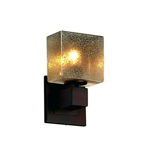 Photo of Justice Design Group FSN-8707-55-MROR-DBRZ-LED1-700 Fusion 5.5-inch LED wall light in dark bronze Adjustable position, contemporary and modern