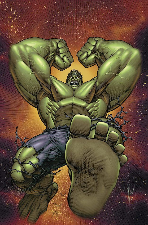 You really don't want to see Hulk at this angle... Because ...