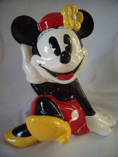 Minnie Mouse Cooke Jar made in Mexico by Treasure Craft
