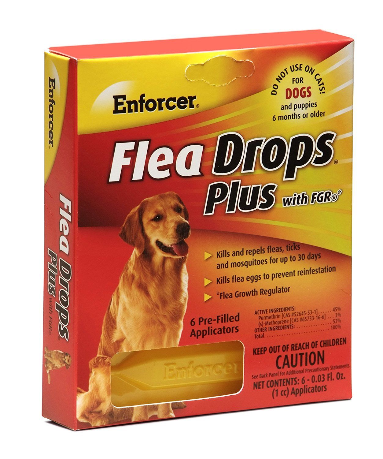 Enforcer 6 Pack Flea Drops Plus For Dogs For More Information Visit Now Flea And Tick Control Fleas Dogs Food Animals