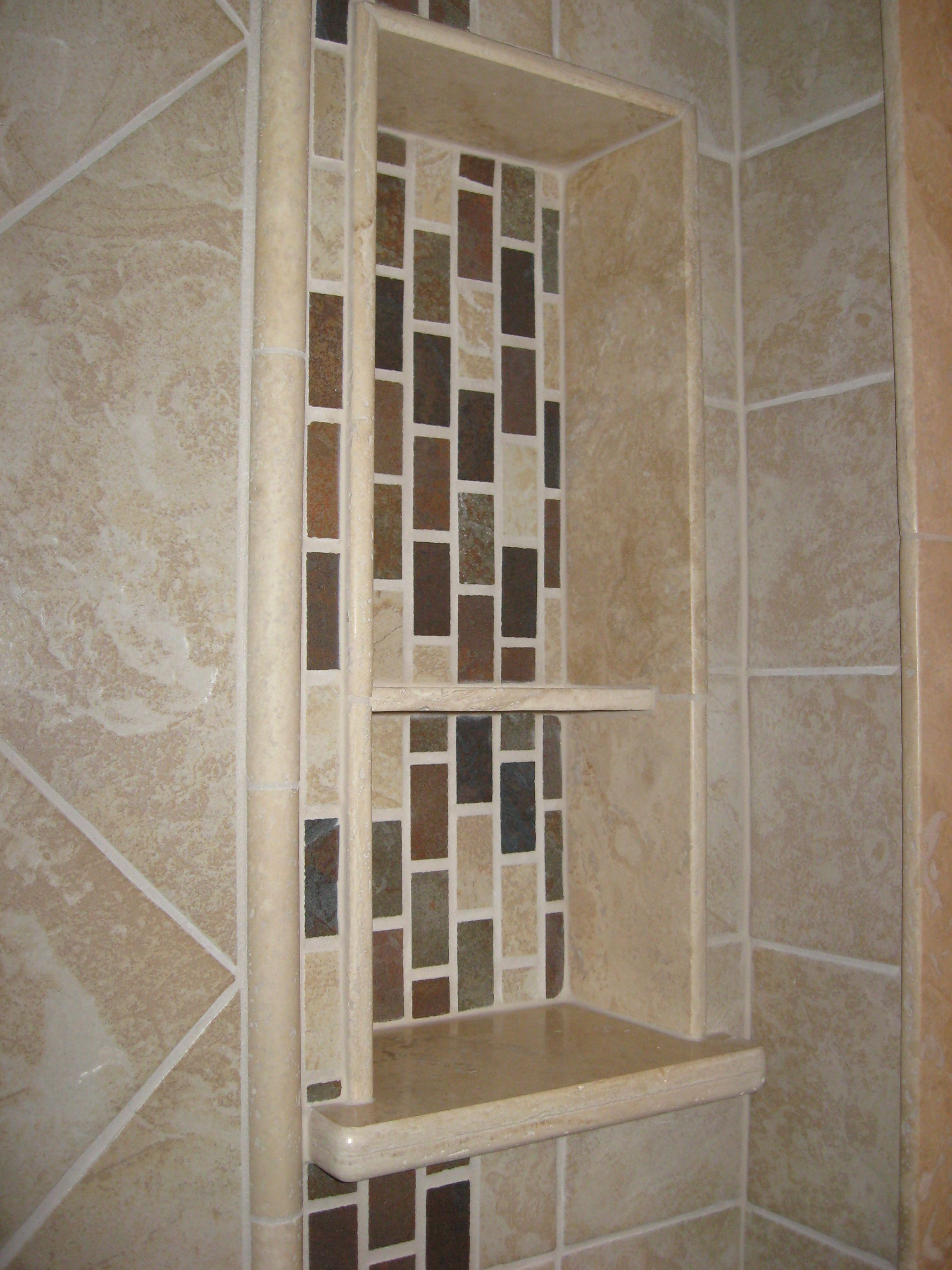 Double Shelf Shower Niche Kitchens And Baths By Design Phase