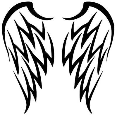 61da58e42 Wing tattoo simple tribal wings art best designs also pinterest alas de  angel tatuajes and rh