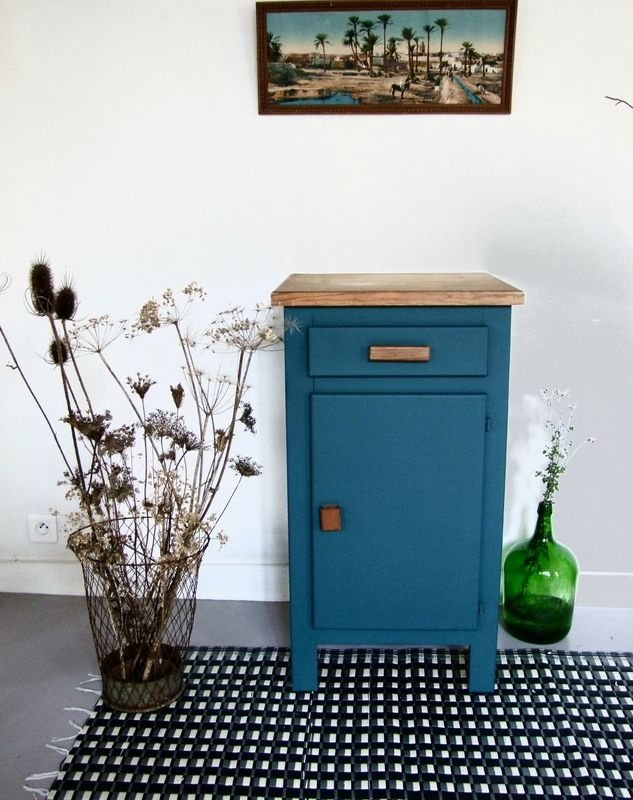 Buffet Confiturier Bleu Canard Interior Furniture