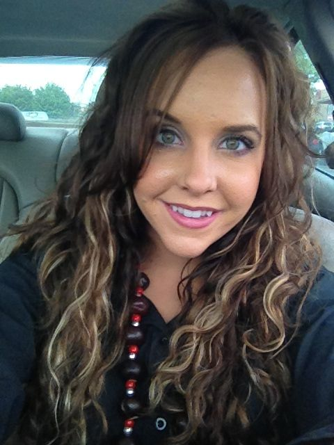 Natural Curly Brown Hair With Peek A Boo Highlights Thanks