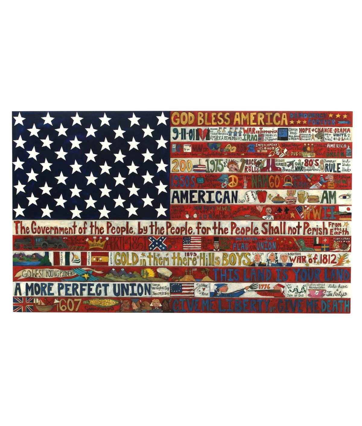America The Beautiful Wall Flag Flag Art Flag