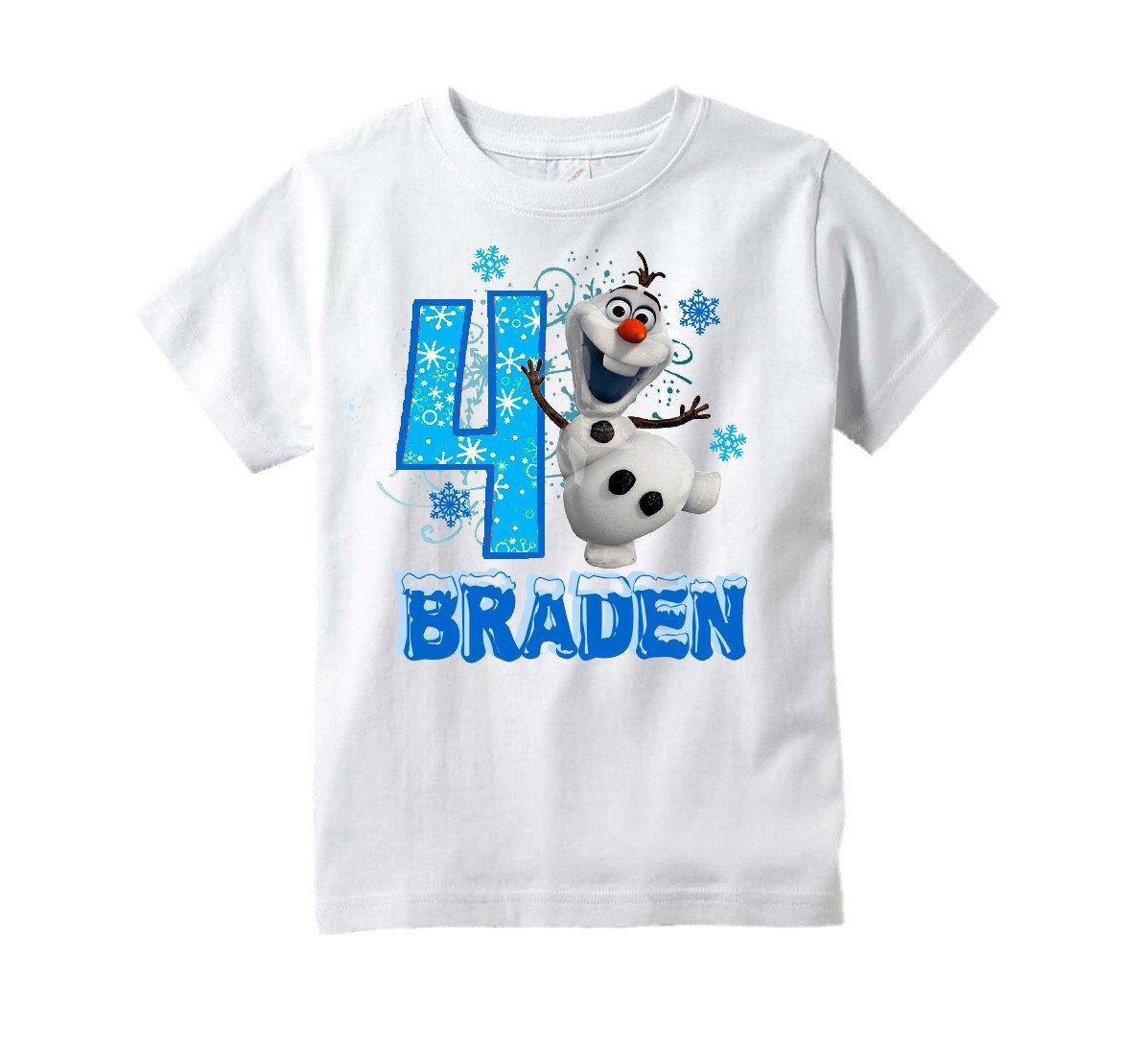 Frozen Olaf Shirt Olaf Birthday TShirt PERSONALIZED by