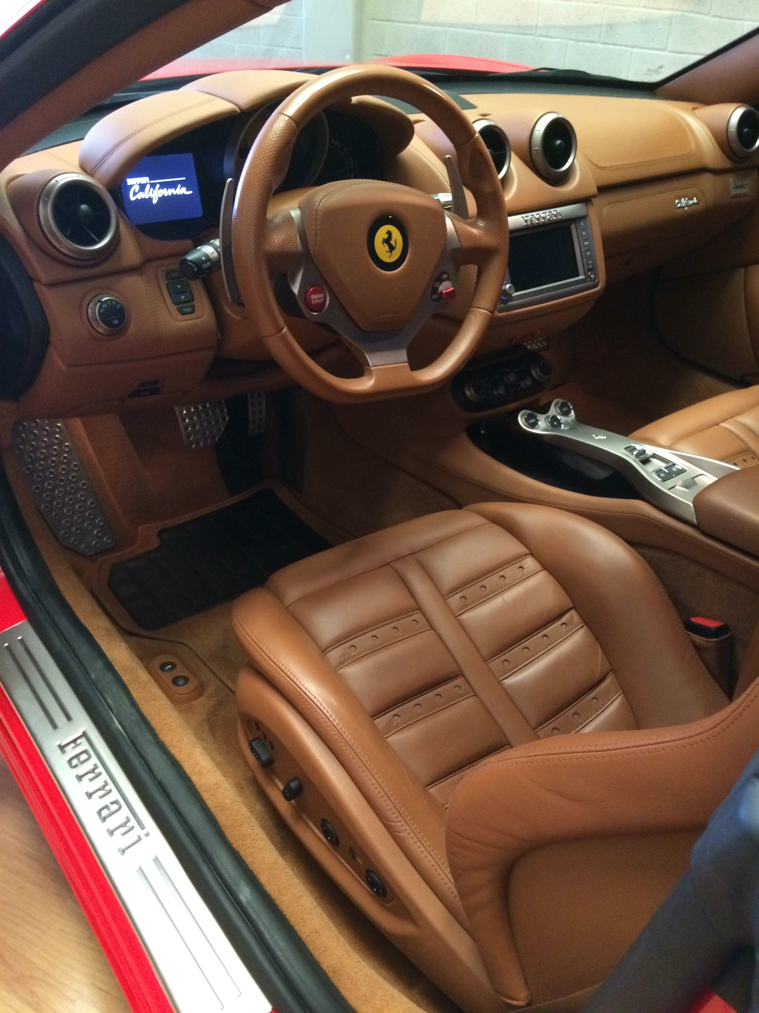 Ferrari California Interior | Red | Leather | #rent #ferrari ...