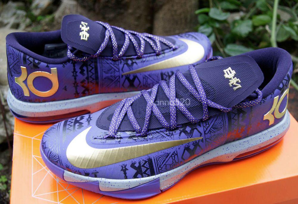 eabba80f077 2014 Nike KD VI BHM Kevin Durant 6 Black History Month 646742-500 ...