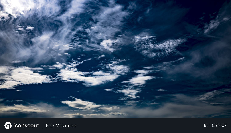 Free Clouds In Dark Blue Sky Photo Download In Png Jpg Format Sky Photos Clouds Blue Sky