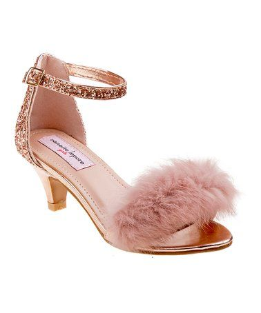 look at this zulilyfind champagne shimmer fuzzy sandal