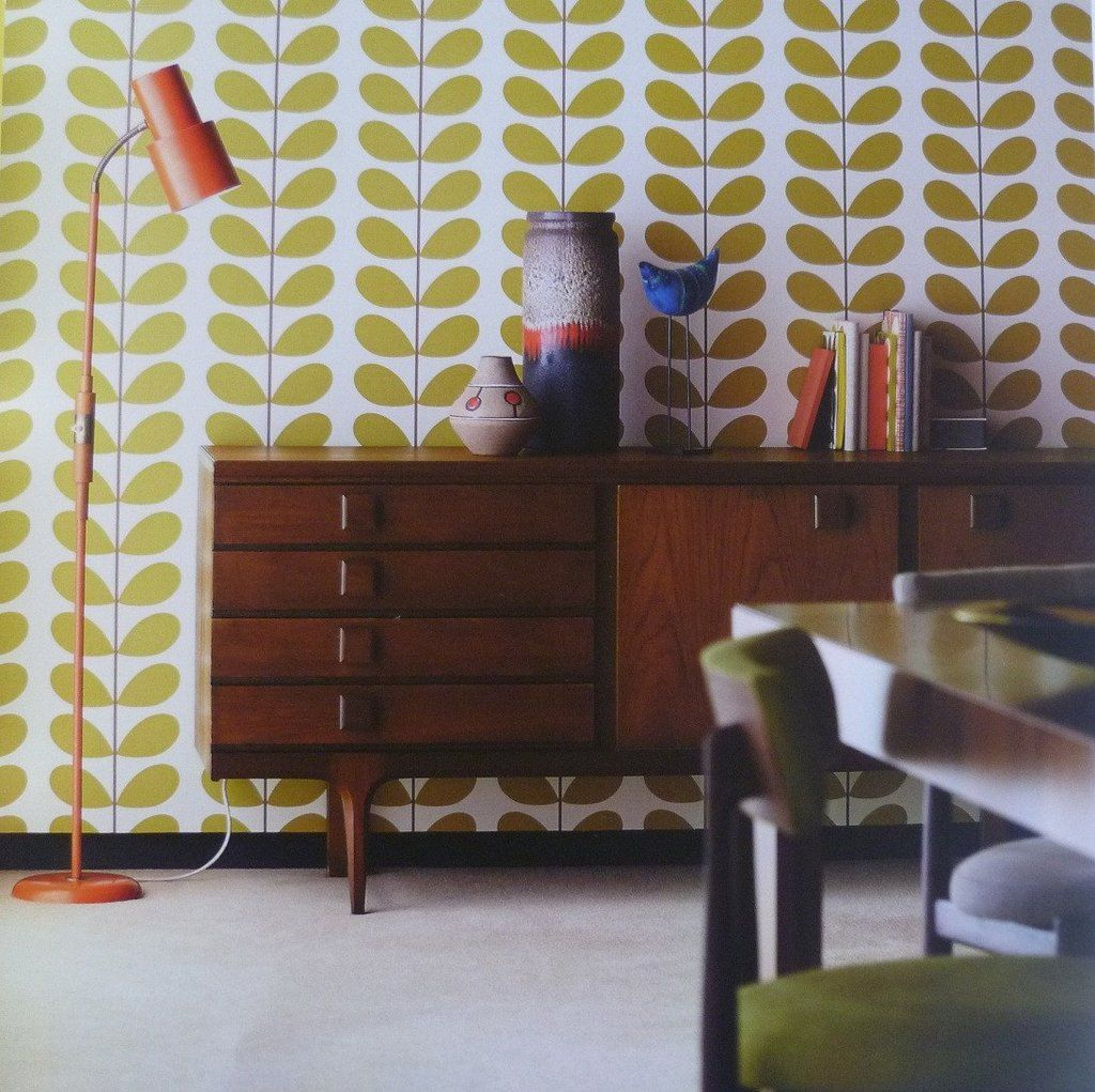 Orla Kiely Classic Stem by Harlequin (With images) Retro