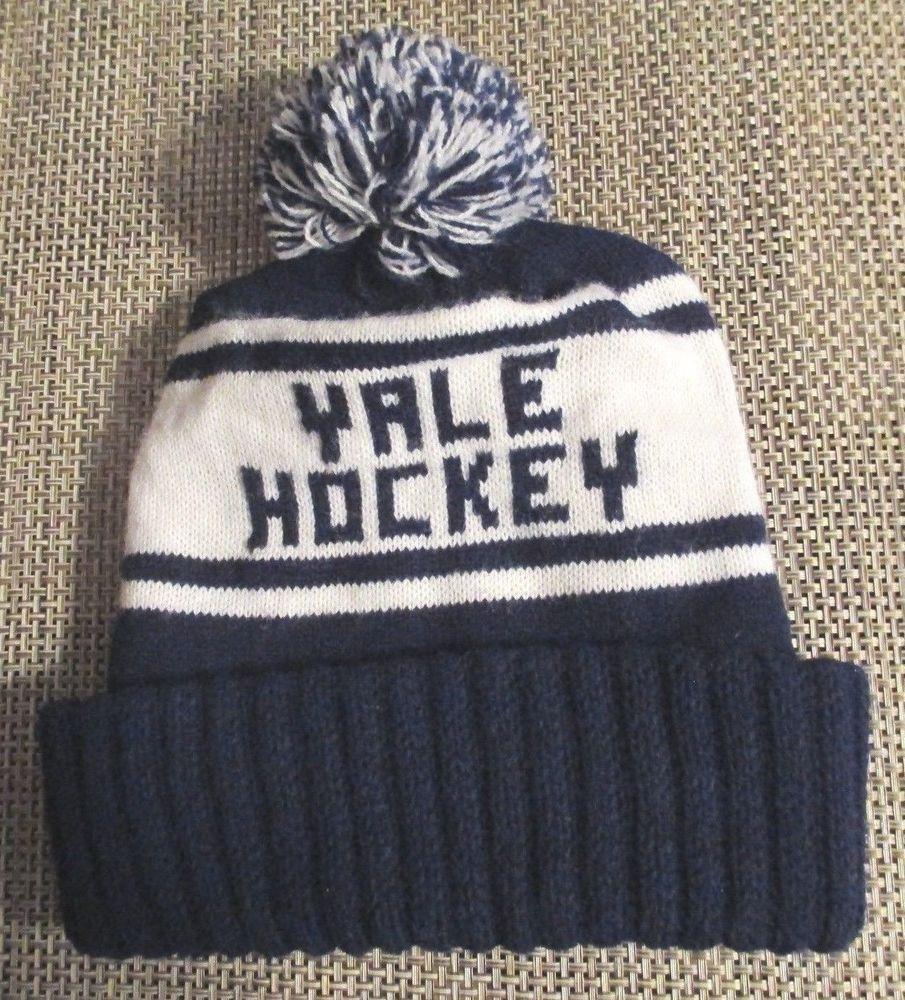 7439d8a43cf6a4 VTG Yale University Bulldogs Hockey Winter Hat Beanie Pom Ski jersey  snapback og #YaleBulldogs