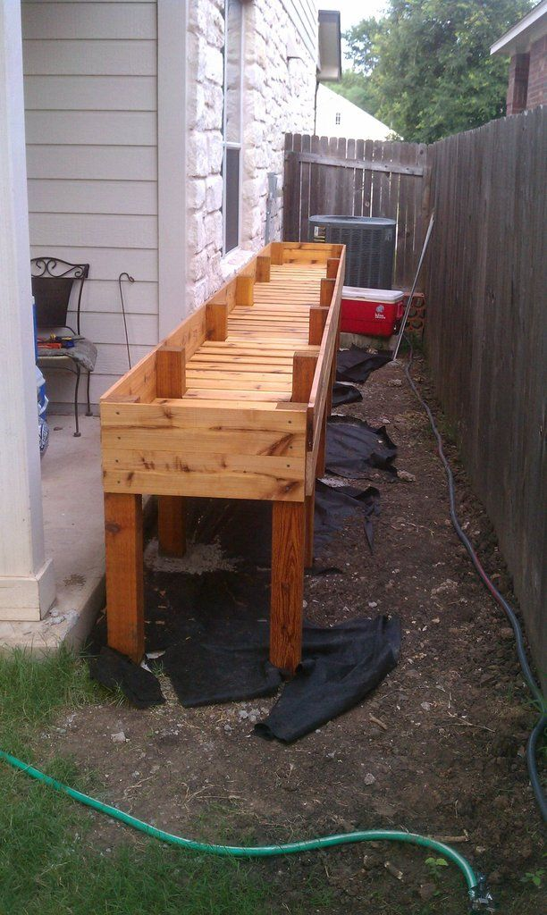 Waist high raised bed garden plans waist high raised cedar for Raised bed plans