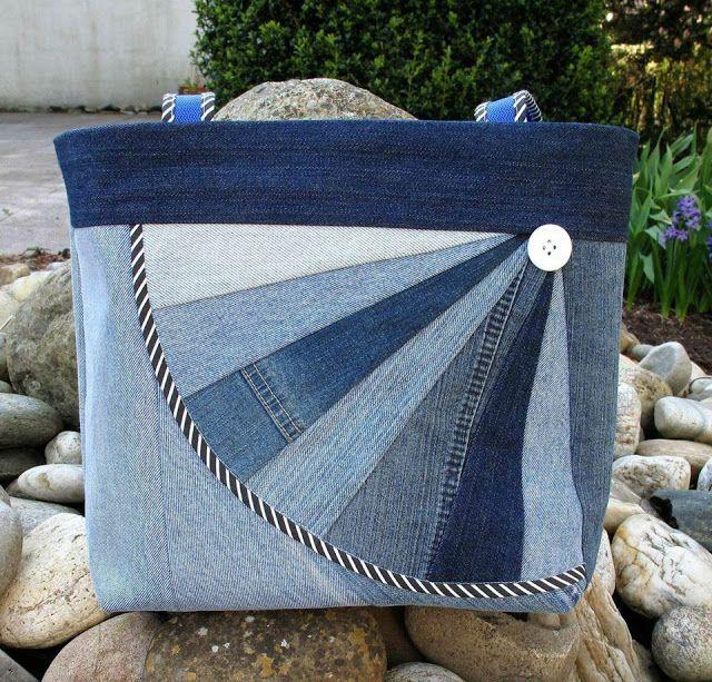 Bolsas de Jeans: Artesanato e Reciclagem + Corte e Costura Criativa Ideias criativas para fazer em casa, Artesanato, decoração, Bricolagem, Corte e costura, ganhar dinheiro
