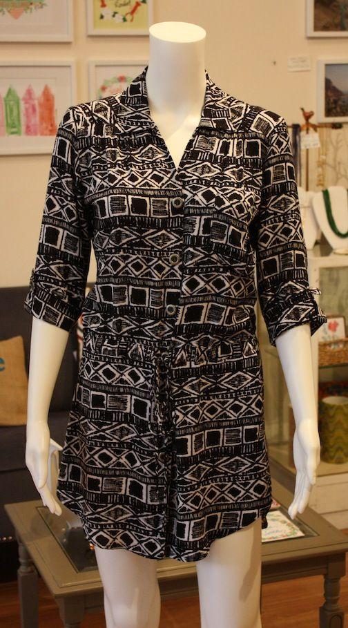 B Block Print Shirt Dress at Hattie Sparks, $63