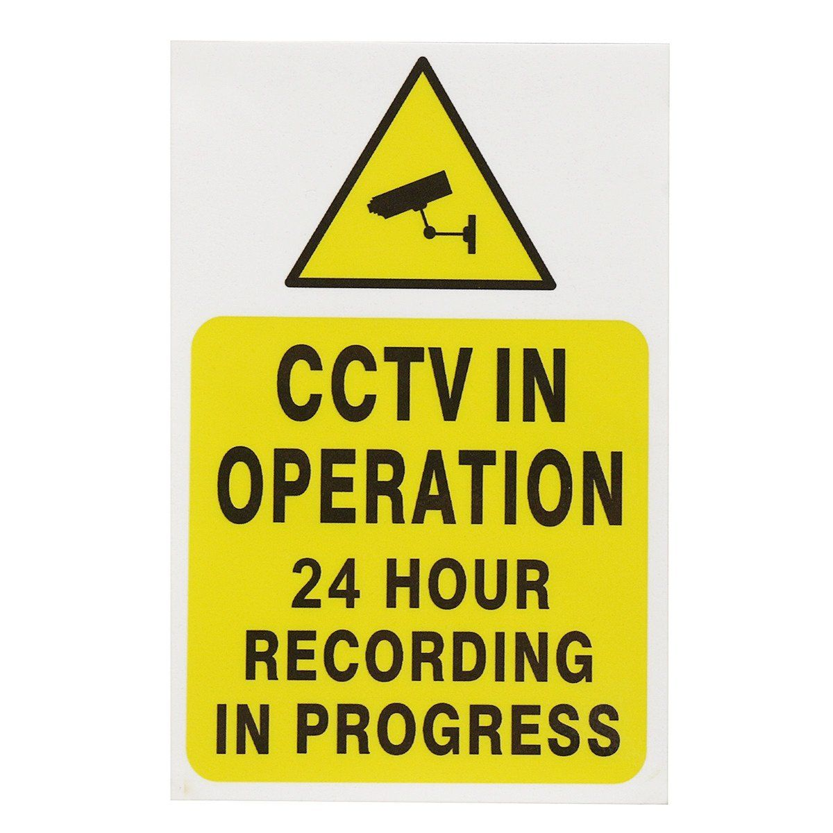Sticker Pack of 10-150mm x 200mm - Security CCTV Sign MISC11 A5 Camera -