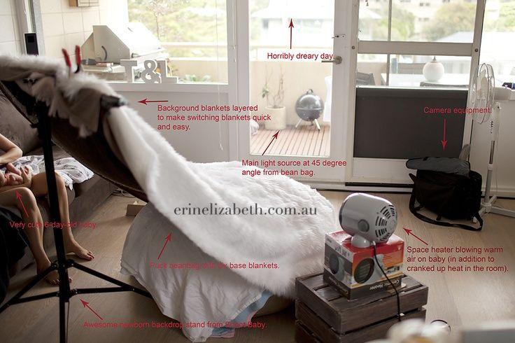 Pull back shots for newborn setup from erin elizabeth photography