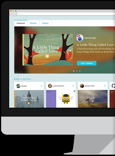 Hjemmesiden storybird.com er en gratis side, hvor elever nemt kan lave egne bøger og dele dem med hinanden.