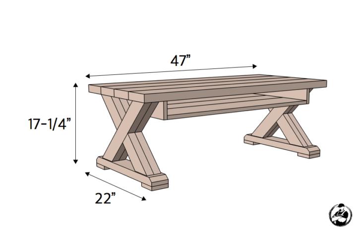 X Leg Coffee Table W Shelf Coffee Table Furniture Coffee Table