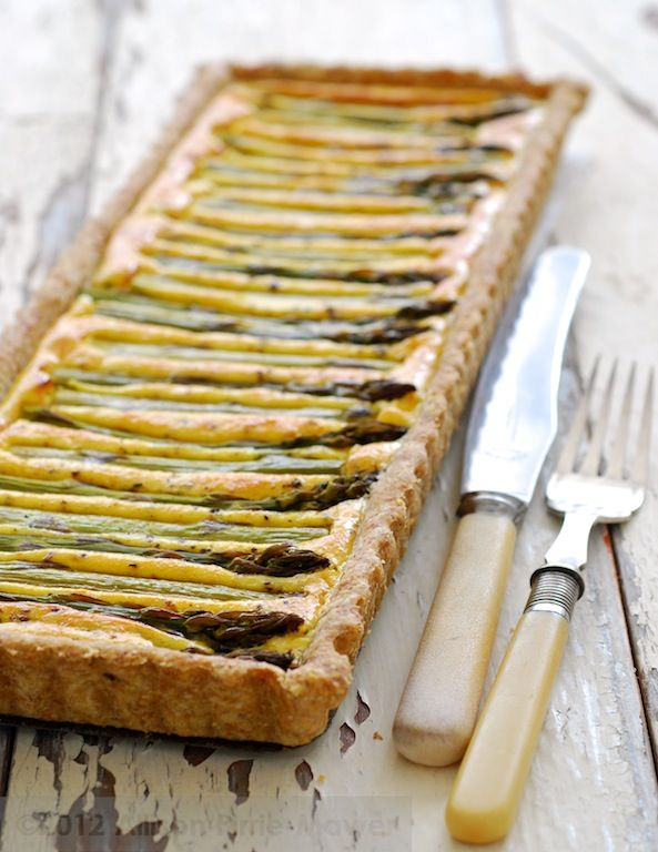 Asparagus Tart by Pease Pudding blog
