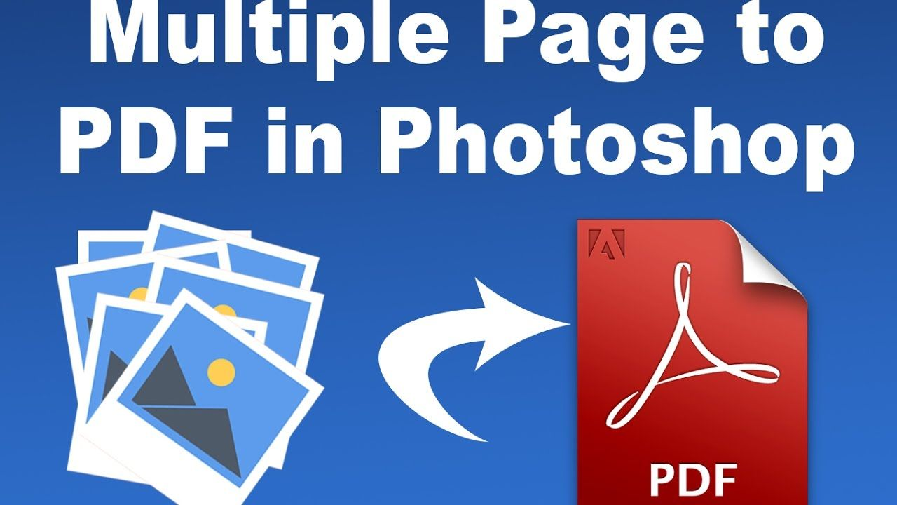 How to make a pdf in photoshop