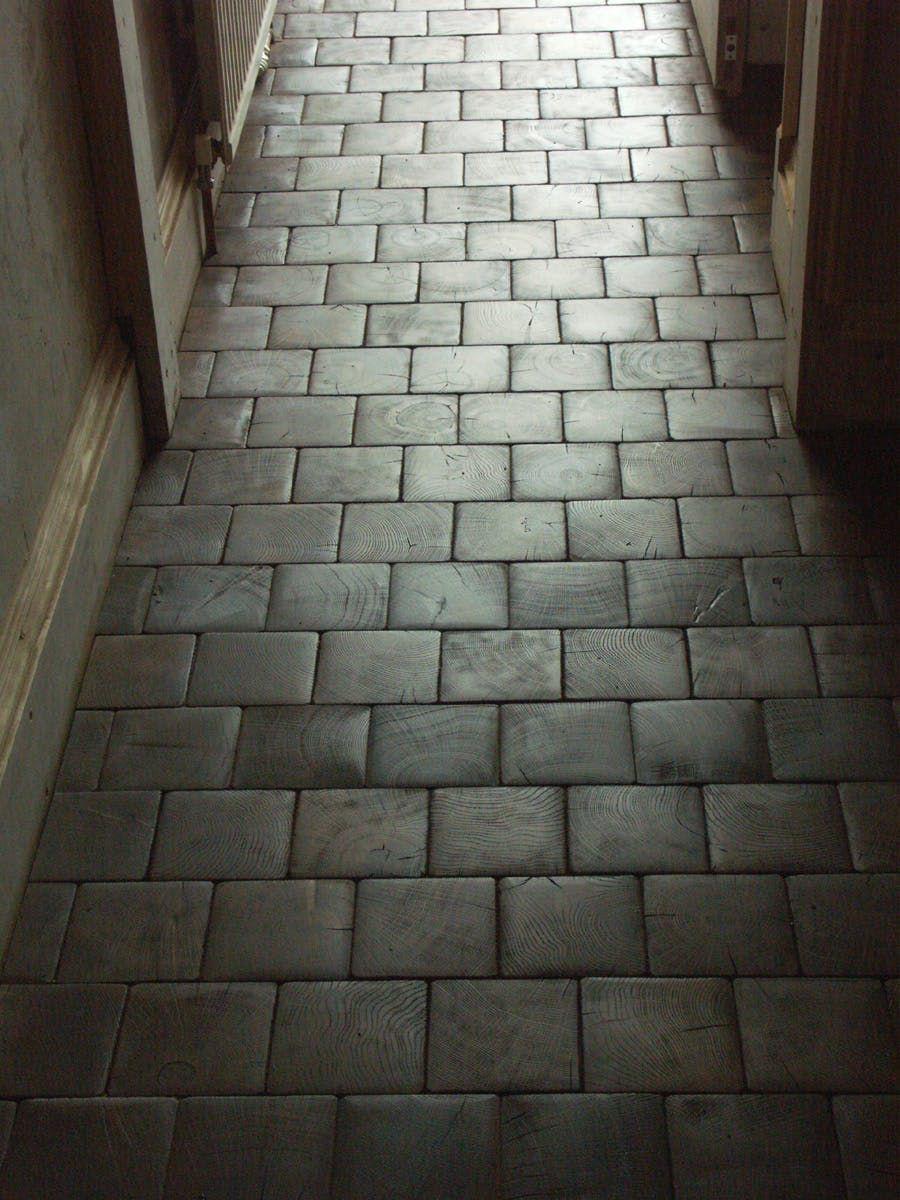 Renovation Inspiration Cartolina S Diy End Grain Block Flooring End Grain Flooring Wood Block Flooring Flooring