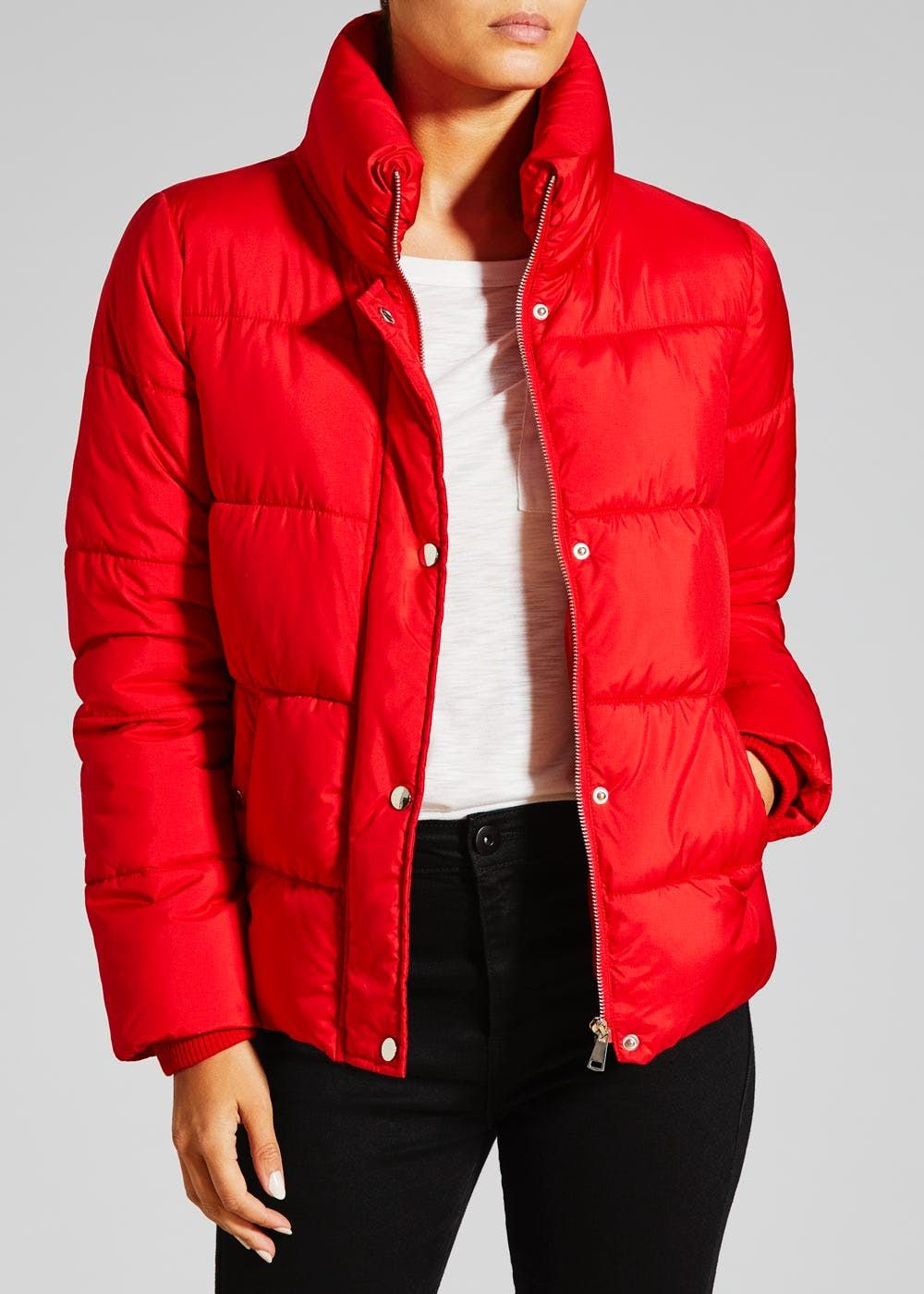 fc41db7b241f Short padded jacket in red (Matalan) | Everyday outfits | Padded ...