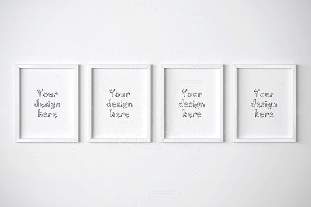 11x14 mockup, Set of 4 mockup, White frame mockups, Digital product ...