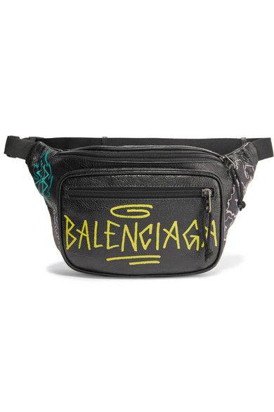 6baa23164 Balenciaga | Explorer Graffiti printed textured-leather belt bag |  NET-A-PORTER.COM