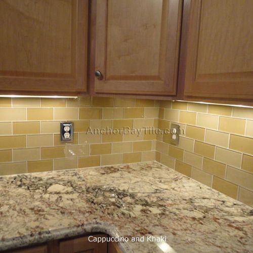 Kitchen Backsplash Neutral: Neutral Glass Subway Tile