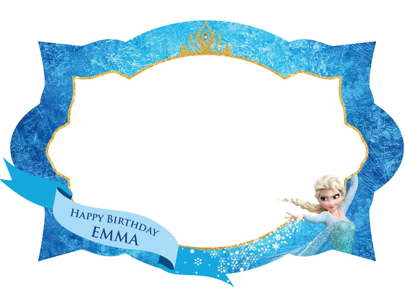 Frozen Photo Frame Photo booth prop Elsa Photo Booth by IRMdesgn   ي ...