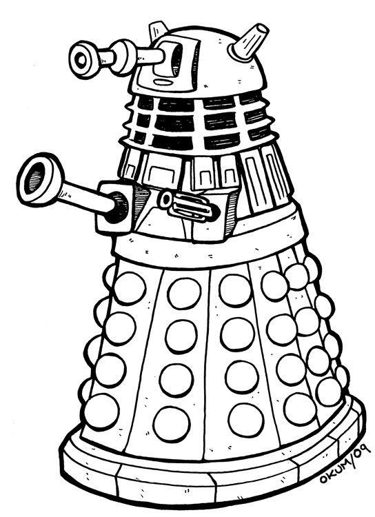 Okum Arts: Daily Drawing for January 21st, 2009... Dalek