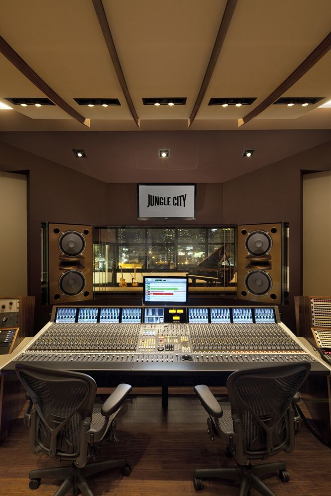Music Studio Room Design: Control Room (Jungle City Studios), New York (Design By