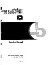 repair manual john deere jd350 crawler tractors loaders service