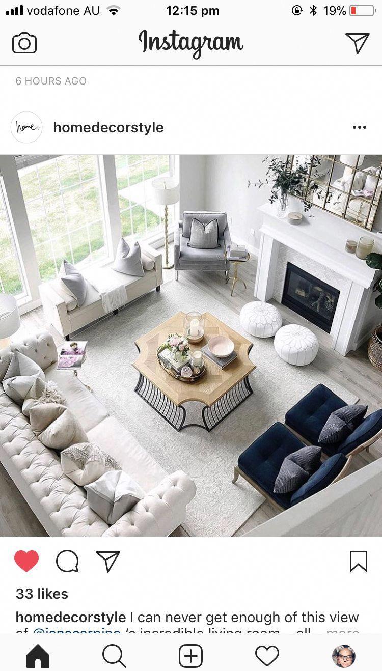 Love The Furniture And The Arrangement Modernhomedecorlivingroom Large Living Room Furniture Living Room Furniture Layout Furniture Placement Living Room #sofa #for #large #living #room