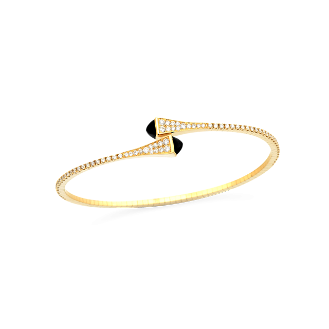 CLEO Slip-On Bangle $3,450  Yellow Gold 18 kt Diamond 0.65 ct