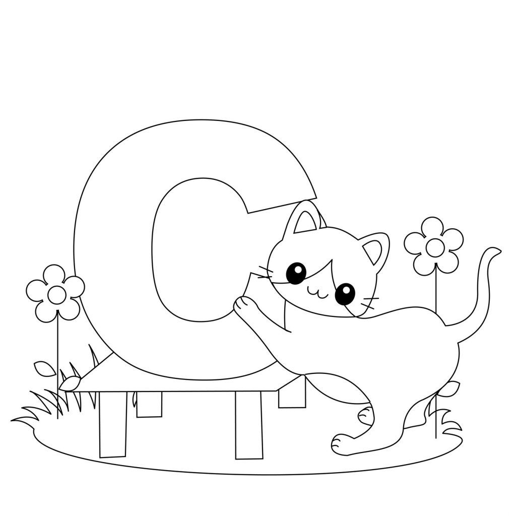 Free printable alphabet coloring pages for kids too cute
