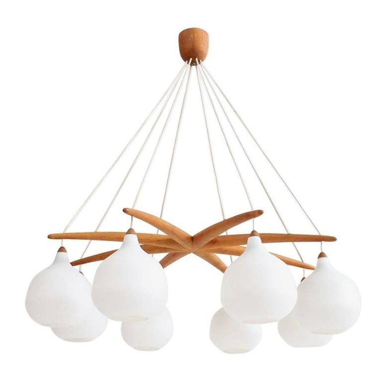 Large Luxus Chandelier By Uno And Osten Kristiansson Mid Century Modern Lamps Modern Scandinavian Furniture Modern Chandelier