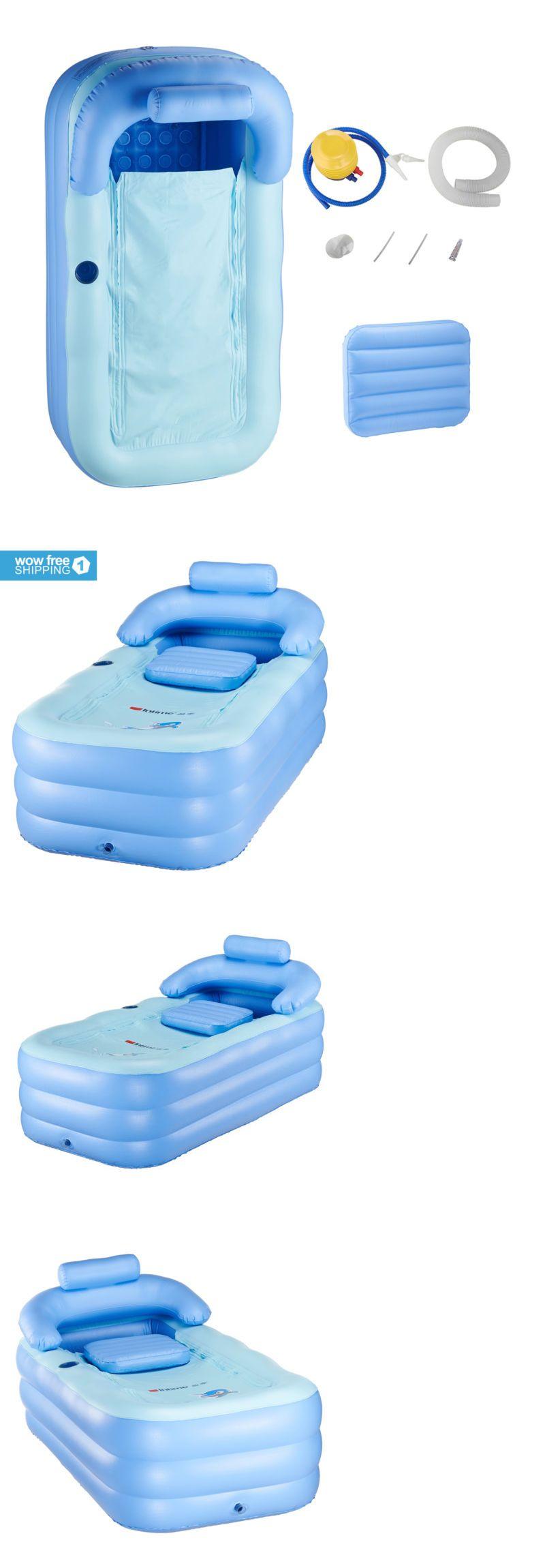 Bathtubs 42025: Blowup Adult Spa Pvc Folding Portable Bathtub Warm ...