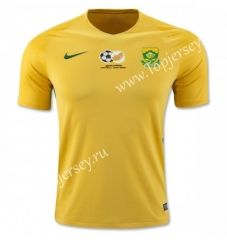 2017 Fifa Confederations Cup South Africa Home Yellow Thailand Soccer Jersey Soccer Jersey Fifa Confederations Cup Jersey