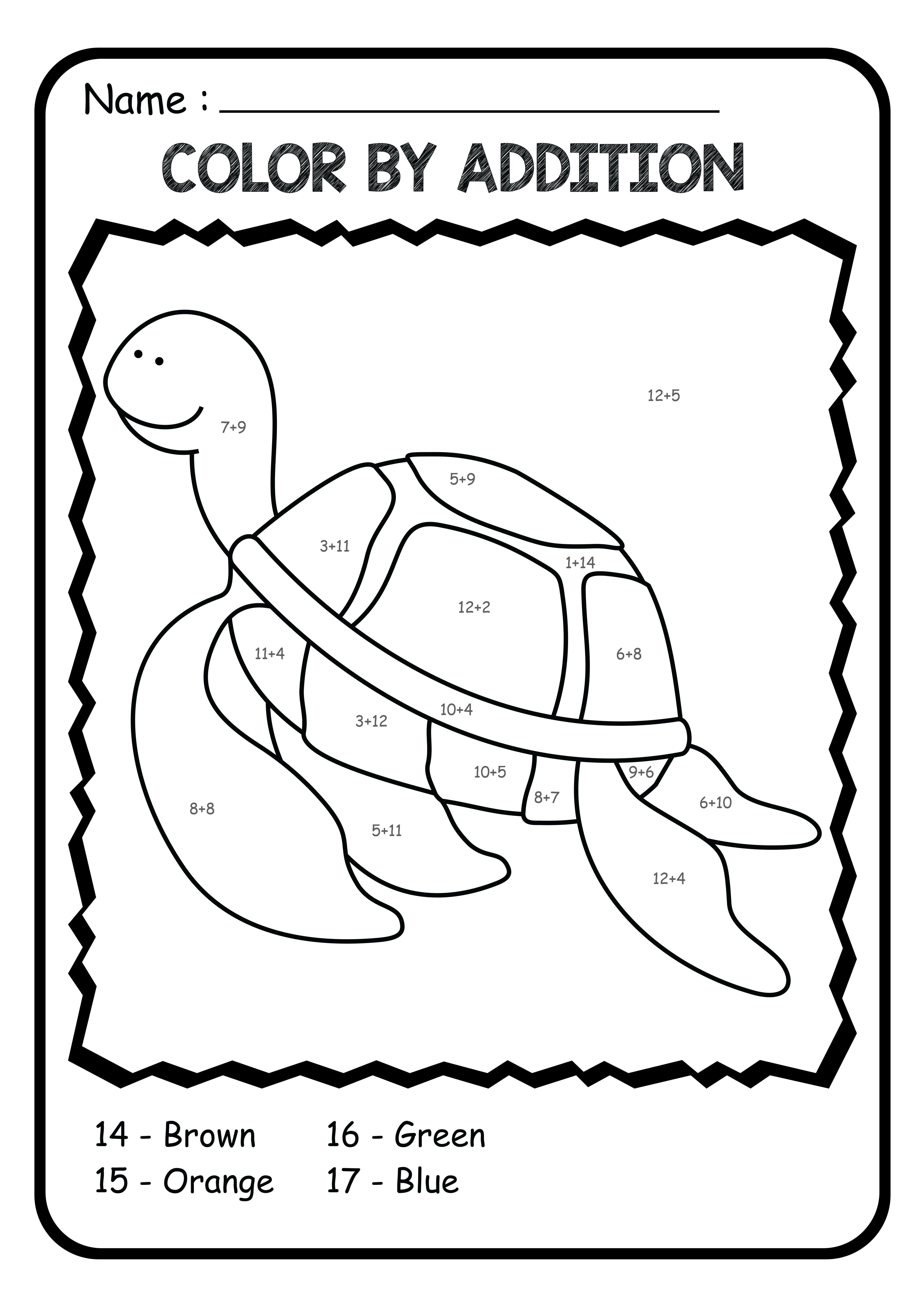 This Resource Is A Selection Of Color By Code Color By Number Subtraction Worksheets Math Coloring Worksheets Math Worksheets Subtraction Worksheets