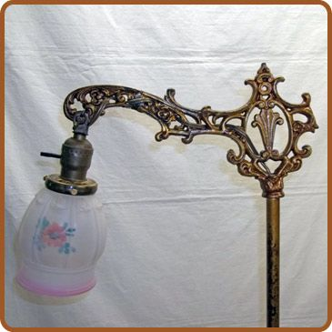 Cast iron and brass bridge arm floor lamp guest room with antique cast iron and brass bridge arm floor lamp aloadofball Image collections