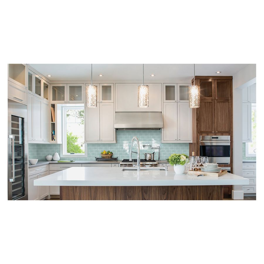 Shop American Olean Stellaris Gemini Glass Wall Tile (Common: 3-in x ...