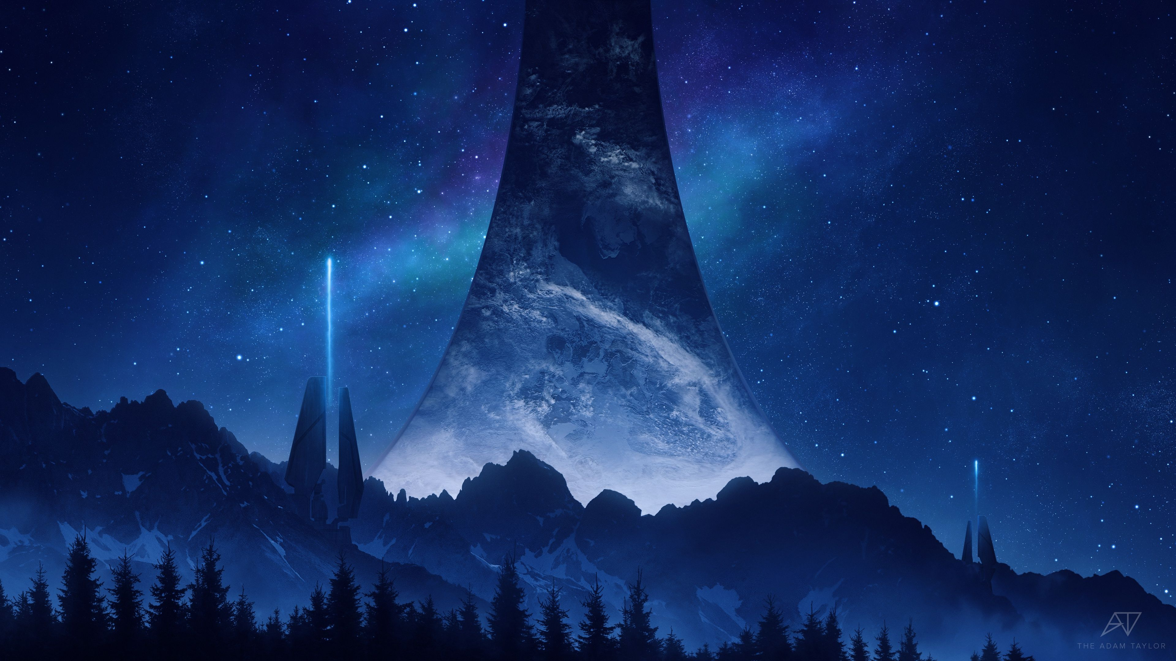 Halo, dark, science fiction, Halo Infinite, video