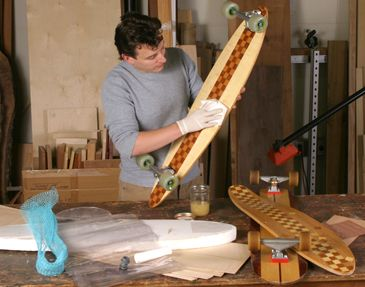 How do you build a skateboard deck?