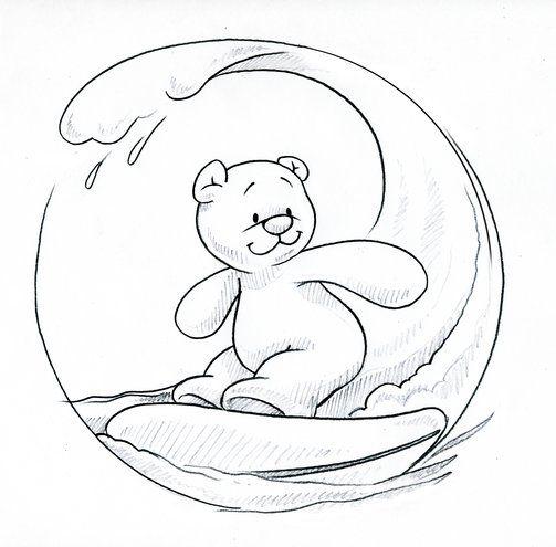 Nouky surfe sur la vague dessin coloriage nos coloriages drawings coloring pages et - Vague coloriage ...